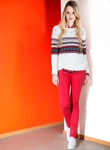 T-Box Slim Fit Pantolon Kırmızı